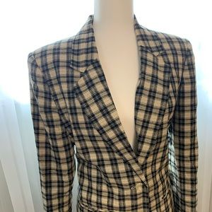 Vintage 90s Plaid Sag Harbor Blazer